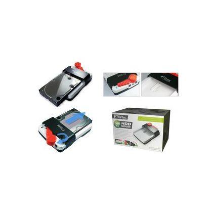 fantec USB 3.0 Festplatten Docking Station, weiß/grau