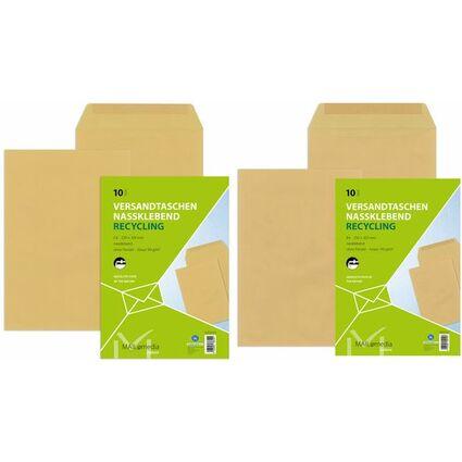 MAILmedia Versandtasche natron braun, B4, ohne Fenster
