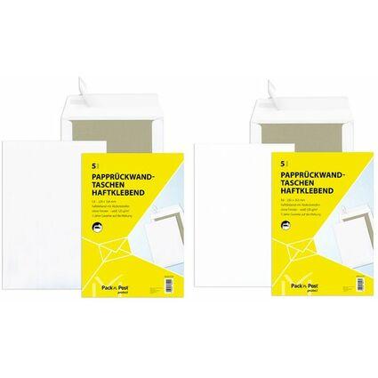 MAILmedia Versandtasche weiß mit Papprücken, C4,ohne Fenster