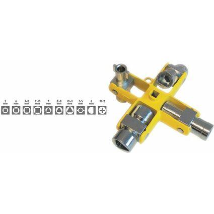 C.K Schaltschrank-Schlüssel, 9 in 1