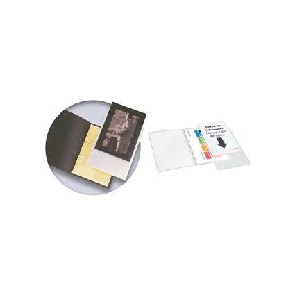 dataplus Schnellhefter mit DIN A4-Tasche, natur-transparent