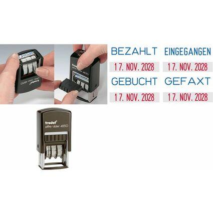"trodat Datumstempel Printy Dater 4850L ""GEFAXT"", blau/rot"