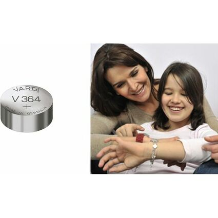 VARTA Silber-Oxid Uhrenzelle, V390 (SR54), 1,55 Volt, 80 mAh