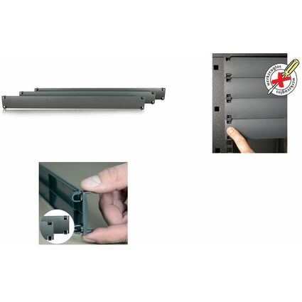 "apranet 19""-Blindplatte 1 HE, Kunststoff, RAL7035 lichtgrau"
