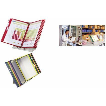 tarifold tdisplay Tischständer Metall, inkl. 30 Sichttafeln