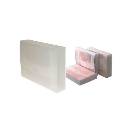 dataplus Heftbox 45, aus Kunststoff, A4, natur-transparent