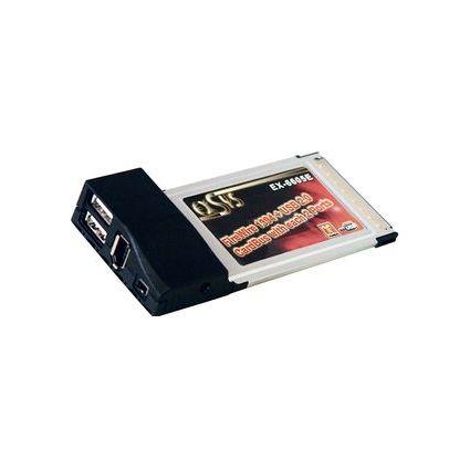 EXSYS FireWire 1394a + USB 2.0 CardBus Adapter, 2 + 2 Port