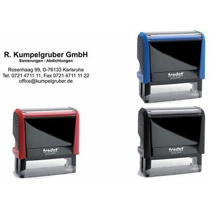 trodat Textstempelautomat Printy 4915 4.0, 7-zeilig, rot