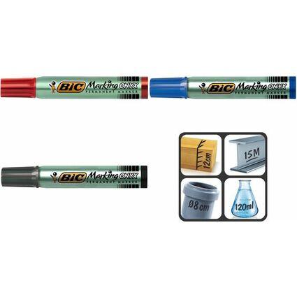 BIC Permanent-Marker Marking Onyx 1591, Keilspitze, blau