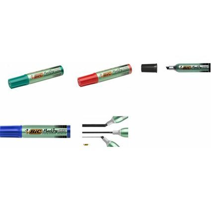 BIC Permanent-Marker Marking Onyx 1481, Keilspitze, grün