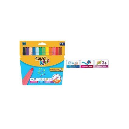 BIC KIDS Fasermaler Visacolor XL, 12er Kartonetui