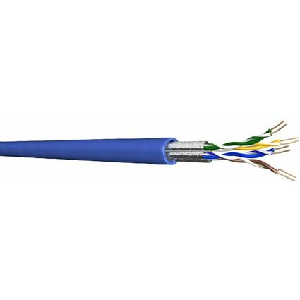 Draka U/FTP Patchkabel 100 m, Kat.6, 250 MHz, blau,