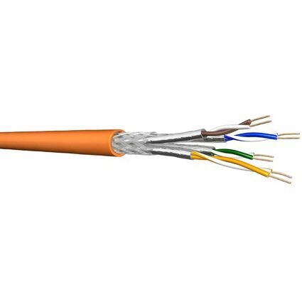 Draka S/FTP Patchkabel 100 m, Kat.7, 900 MHz, gelb,
