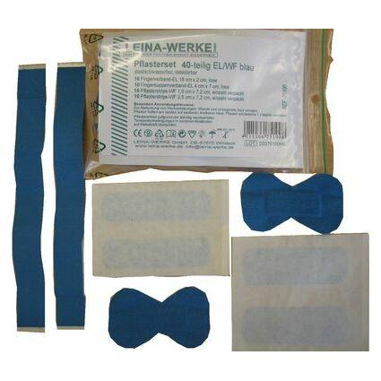 Leina Pflasterset 40-teilig, elatsich/wasserfest, blau