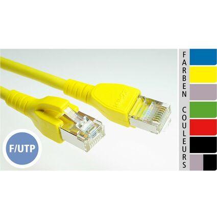 EC-net Patchkabel Kat. 5e F/UTP, blau, 10,0 m