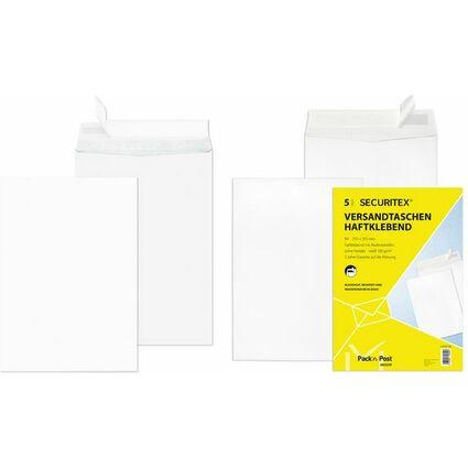 SECURITEX Versandtasche, C5, weiß, ohne Fenster, 130 g/qm