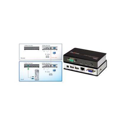 ATEN USB KVM Extender, Metallgehäuse, schwarz/silber