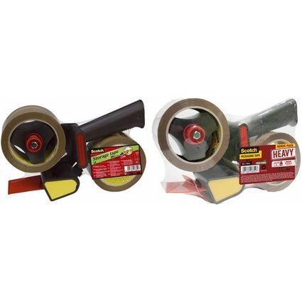 Scotch Handabroller 309R2D für Verpackungsklebeband, schwarz