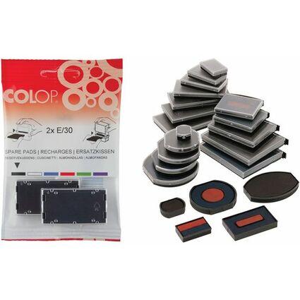 COLOP Ersatzstempelkissen E/12/2, blau/rot, Doppelpack