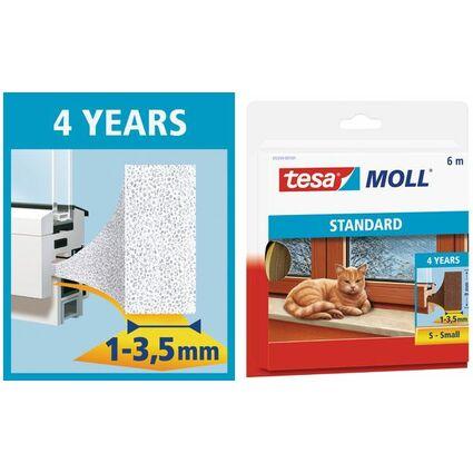 tesa Moll STANDARD I-Profil Schaumstoff-Dichtung, 9 mm x 6 m