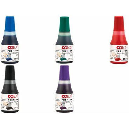 """COLOP Stempelfarbe """"801"""", für Stempelkissen, 25 ml, rot"""