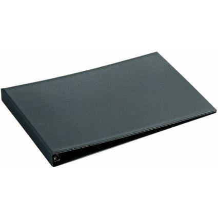 HETZEL Ringbuch Standard, A3 quer, schwarz, 4-Ring-