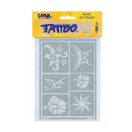 """KREUL Tattoo Schablone Hobby Line """"Sonne & Blumen"""""""