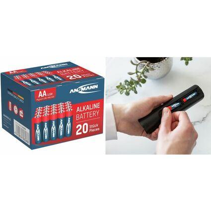 """ANSMANN Alkaline Batterie """"RED"""", Mignon AA, 20er Blister"""