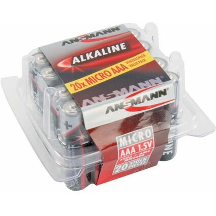 """ANSMANN Alkaline Batterie """"RED"""",Micro AAA, 20er Blister"""