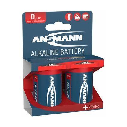 """ANSMANN Alkaline Batterie """"RED"""", Mono D, 2er Blister"""