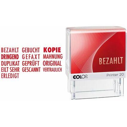"""COLOP Textstempel Printer 20 """"GEFAXT"""", mit Textplatte"""