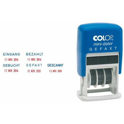 "COLOP Datumstempel Mini Dater S160 L1 ""Eingang"""