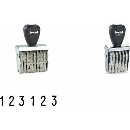 trodat Ziffernstempel, 6-stellig, Abdruckmaße: 9 x 41 mm