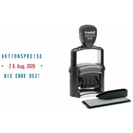 trodat Textstempel Professional Typomatic Dater 5435