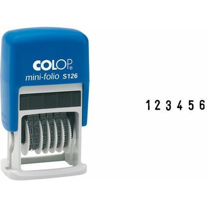 COLOP Ziffernstempel Mini Dater S126, 6-stellig
