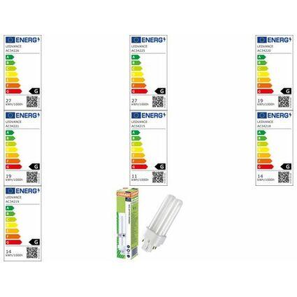 OSRAM Kompaktleuchtstofflampe DULUX D/E, 10 Watt, G24q-1