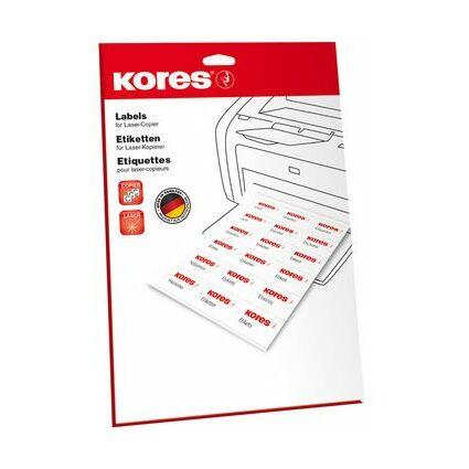 Kores Universal-Etiketten, 70 x 37 mm, weiß, 25 Blatt
