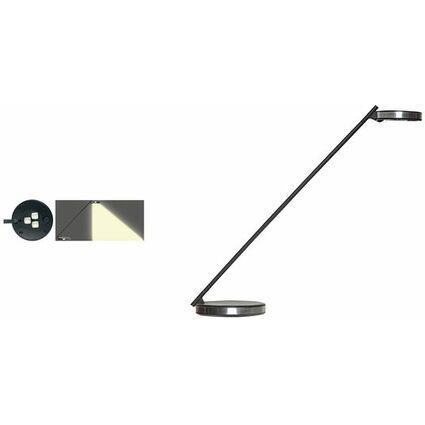unilux LED Energiespar-Tischleuchte DISC, metallgrau/schwarz