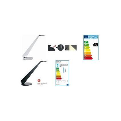 unilux LED Energiespar-Tischleuchte INFINITY, metallgrau