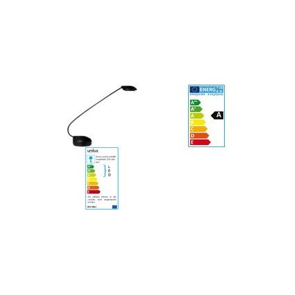 unilux LED Energiespar-Tischleuchte SPHERE, metallgrau