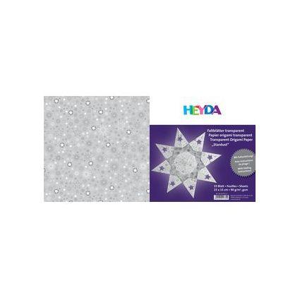"HEYDA Origami Faltblätter transparent ""Stardust silber"""