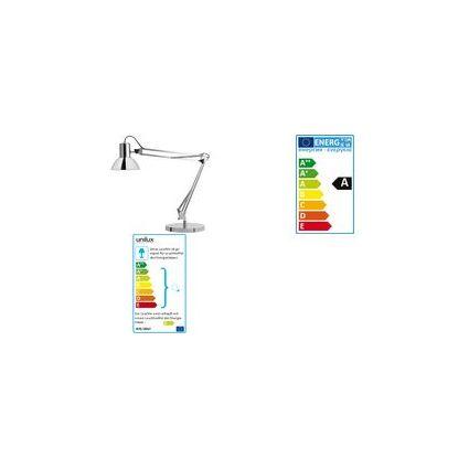 unilux Energiespar-Tischleuchte SUCCESS, Farbe: chrom