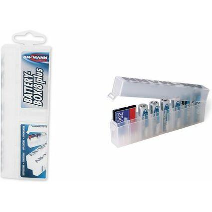 ANSMANN Akkubox 8-fach, Aufbewahrungsbox aus Poly-Propylen