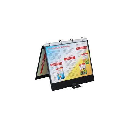 dataplus Tisch-Flipchart, DIN A4, anthrazit, 4 D-Ring