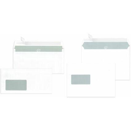 MAILmedia Briefumschläge C5 haftklebend, mit Fenster, weiß