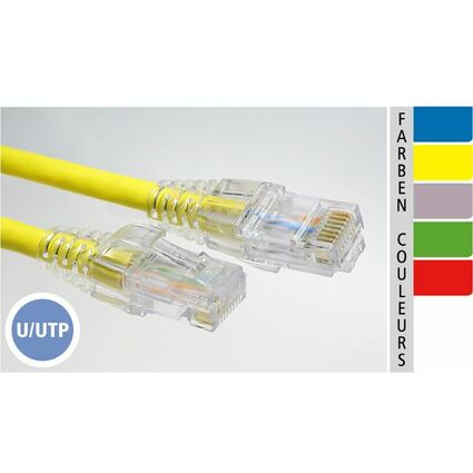 EC-net Patchkabel Kat. 6 U/UTP, grau/transparent, 0,3 m