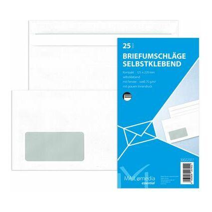 MAILmedia Briefumschlag Offset weiß, Kompakt, mit Fenster