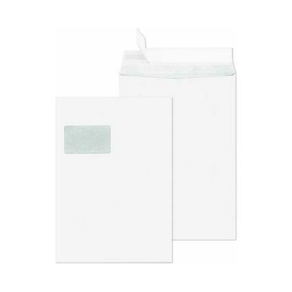 SECURITEX Versandtasche, C4, weiß, mit Fenster, 130 g/qm