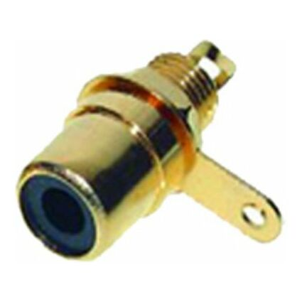 shiverpeaks BASIC-S Cinch-Einbaukupplung, vergoldet, schwarz