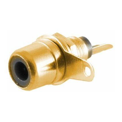 shiverpeaks BASIC-S Cinch-Einbaukupplung, vergoldet, rot